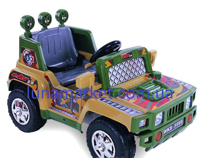 Детский электромобиль военный одноместный 3599.  Возраст:от 3 до 5лет